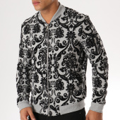 /achat-vestes/uniplay-veste-zippee-poche-bomber-uy234-gris-noir-157036.html