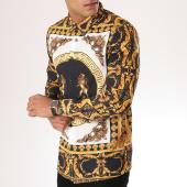 /achat-chemises-manches-longues/uniplay-chemise-manches-longues-up-t536-noir-blanc-dore-renaissance-157046.html