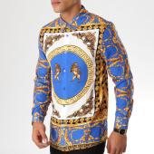 /achat-chemises-manches-longues/uniplay-chemise-manches-longues-up-t536-bleu-roi-blanc-dore-renaissance-157047.html