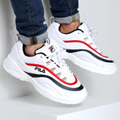 6237197440bd9 Fila - Baskets Ray Low 1010561 150 White Navy Red