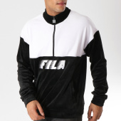 /achat-sweats-pulls/fila-sweat-velours-avec-col-zippe-easton-684330-noir-blanc-157243.html