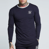 /achat-t-shirts-manches-longues/siksilk-tee-shirt-manches-longues-oversize-ringer-gym-13283-bleu-marine-157223.html