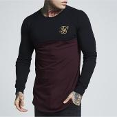 /achat-t-shirts-manches-longues/siksilk-tee-shirt-manches-longues-oversize-raglan-gym-noir-bordeaux-157225.html