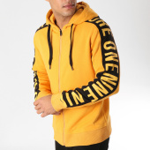 /achat-sweats-zippes-capuche/jack-and-jones-sweat-zippe-capuche-avec-bandes-charlie-orange-157346.html