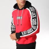 /achat-sweats-capuche/john-h-sweat-capuche-9100-rouge-noir-blanc-157318.html