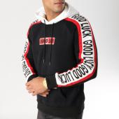 /achat-sweats-capuche/john-h-sweat-capuche-9100-noir-blanc-rouge-157319.html