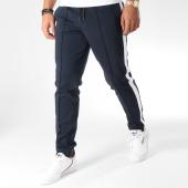 /achat-pantalons-carreaux/selected-pantalon-avec-bandes-special-gair-bleu-marine-blanc-157334.html