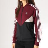 /achat-vestes/adidas-veste-zippee-femme-clrdo-dh2999-bordeaux-noir-157501.html