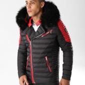 /achat-doudounes/comme-des-loups-doudoune-fourrure-f1865-noir-rouge-157484.html