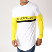 /achat-t-shirts-manches-longues/gianni-kavanagh-tee-shirt-manches-longues-oversize-block-jaune-blanc-157499.html