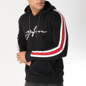 /achat-sweats-capuche/good-for-nothing-sweat-capuche-avec-bandes-speed-jersey-noir-rouge-blanc-157385.html