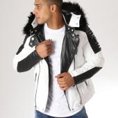 /achat-vestes-biker/adw-58-veste-biker-fourrure-mz8070-blanc-noir-157628.html