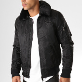 /achat-bombers/adw-58-bomber-col-mouton-fmb1696a-noir-157659.html