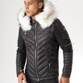 /achat-doudounes/comme-des-loups-doudoune-fourrure-f1850-noir-blanc-157544.html