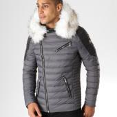 /achat-doudounes/comme-des-loups-doudoune-fourrure-f1837-gris-noir-blanc-157561.html