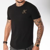 /achat-t-shirts-longs-oversize/final-club-tee-shirt-oversize-gold-label-avec-broderie-or-100-noir-157792.html