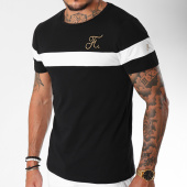 /achat-t-shirts/final-club-tee-shirt-gold-label-bicolore-avec-broderie-or-106-blanc-noir-157796.html