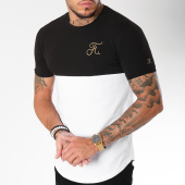 /achat-t-shirts-longs-oversize/final-club-tee-shirt-oversize-gold-label-bicolore-avec-broderie-or-108-blanc-noir-157797.html