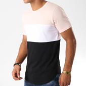 /achat-t-shirts-longs-oversize/lbo-tee-shirt-oversize-tricolore-517-noir-blanc-rose-157742.html