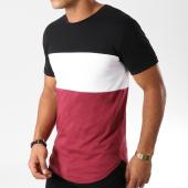 /achat-t-shirts-longs-oversize/lbo-tee-shirt-oversize-tricolore-516-noir-blanc-bordeaux-157744.html