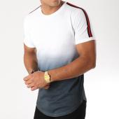 /achat-t-shirts-longs-oversize/lbo-tee-shirt-oversize-avec-bandes-noir-et-rouge-549-blanc-degrade-noir-157745.html