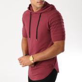 /achat-t-shirts-capuche/lbo-tee-shirt-capuche-oversize-464-bordeaux-157750.html