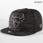 8e676de3673ae New Era - Casquette Snapback Enfant Engineered Fit Chicago Bulls 11794738  Noir Gris Chiné