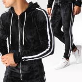 /achat-ensembles-survetement/john-h-ensemble-de-survetement-velours-avec-bandes-ab50-noir-blanc-157912.html