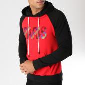/achat-sweats-capuche/john-h-sweat-capuche-9120-rouge-noir-157884.html