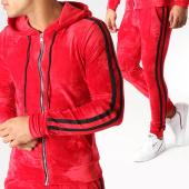 /achat-ensembles-survetement/john-h-ensemble-de-survetement-velours-avec-bandes-ab50-rouge-noir-157909.html