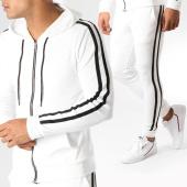 /achat-ensembles-survetement/john-h-ensemble-de-survetement-velours-avec-bandes-ab50-blanc-noir-157911.html