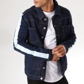 /achat-vestes-jean/classic-series-veste-jean-avec-bandes-1141-bleu-denim-158033.html