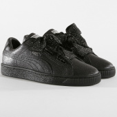 /achat-baskets-basses/puma-baskets-femme-heart-holiday-glamour-367630-02-black-silver-157997.html