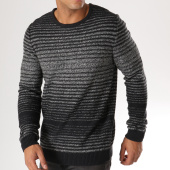 /achat-pulls/selected-pull-andrew-noir-gris-chine-157957.html