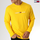 /achat-t-shirts-manches-longues/tommy-hilfiger-jeans-tee-shirt-manches-longues-small-text-5331-jaune-157978.html