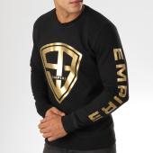 /achat-sweats-col-rond-crewneck/93-empire-sweat-crewneck-93-empire-sleeves-noir-dore-158085.html