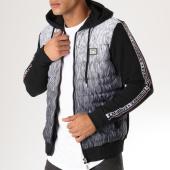 /achat-sweats-zippes-capuche/classic-series-sweat-zippe-capuche-bandes-brodees-18282-noir-blanc-158079.html