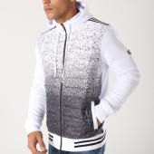 /achat-sweats-zippes-capuche/classic-series-sweat-zippe-capuche-2235-blanc-noir-158082.html