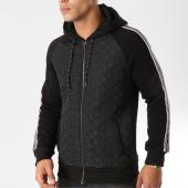 /achat-sweats-zippes-capuche/classic-series-sweat-zippe-capuche-bandes-brodees-2219-noir-158120.html