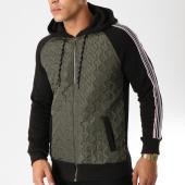 /achat-sweats-zippes-capuche/classic-series-sweat-zippe-capuche-bandes-brodees-2219-vert-kaki-noir-158126.html