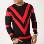 /achat-pulls/ikao-pull-f232-noir-rouge-158167.html
