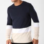 /achat-t-shirts-manches-longues/celio-tee-shirt-manches-longues-ametricolo-bleu-marine-ecru-blanc-158379.html