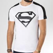 /achat-t-shirts/superman-tee-shirt-avec-bandes-logo-blanc-noir-158328.html