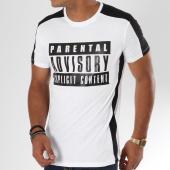 /achat-t-shirts/parental-advisory-tee-shirt-avec-bande-logo-blanc-noir-158353.html