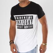 /achat-t-shirts-longs-oversize/parental-advisory-tee-shirt-oversize-logo-bicolore-blanc-noir-158354.html
