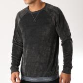 /achat-sweats-col-rond-crewneck/calvin-klein-sweat-crewneck-velours-sleepwear-nm1567e-gris-anthracite-158496.html