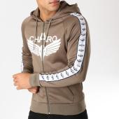 /achat-sweats-zippes-capuche/charo-sweat-zippe-capuche-avec-bandes-ambition-vert-kaki-158573.html