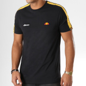 /achat-t-shirts/ellesse-tee-shirt-avec-bandes-crotone-noir-158581.html