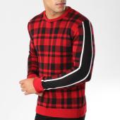 /achat-pulls/john-h-pull-jp01-carreaux-rouge-noir-avec-bandes-noire-blanche-158500.html