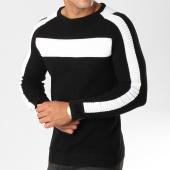 /achat-pulls/john-h-pull-avec-bandes-jp20-noir-blanc-158506.html